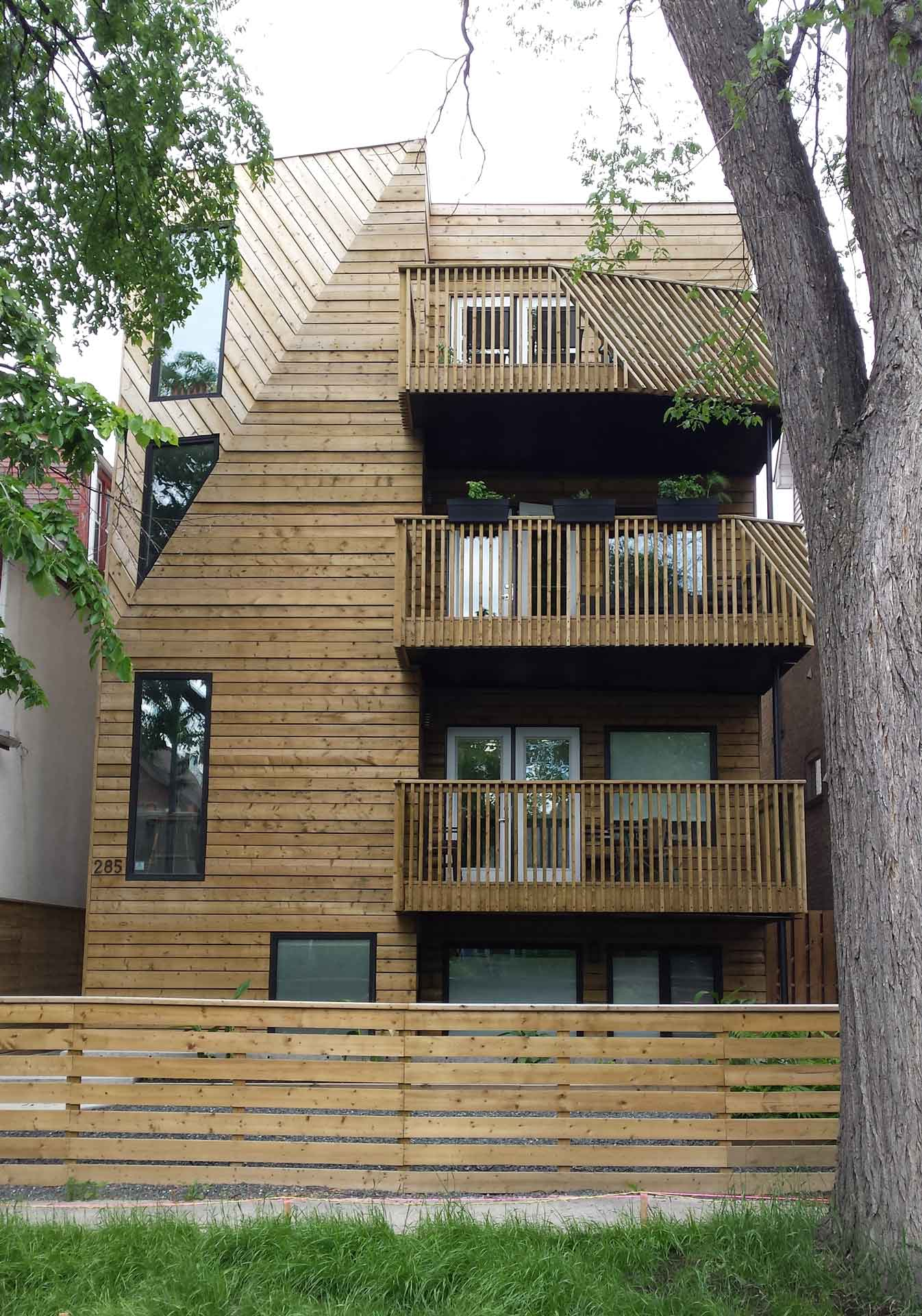 Infill Condo West End Front Face